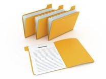 Yellow-organizing-folders